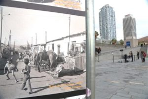 The Olympic Village of Barcelona in the 1950's and today.