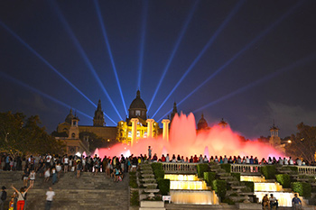 Magic Fountain show at the National Palace of Barcelona