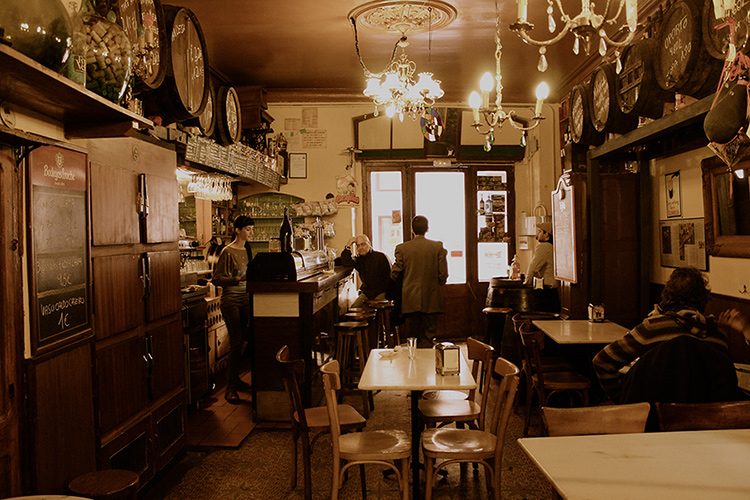 interior of a bar bodega in barcelona during a food tour with brighside tours