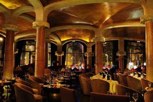 beautiful music bar in hotel casa fuster of Barcelona
