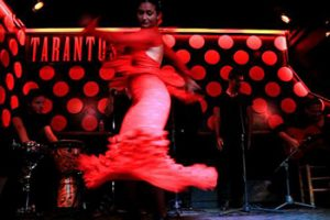 woman dancing flamenco at tarantos live music club in barcelona