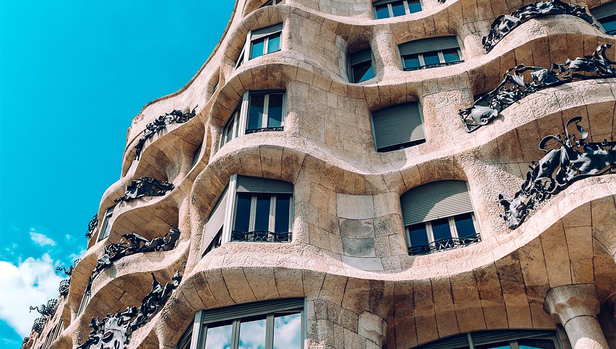 La pedrera casa mila gaudi apartment building with stone facade
