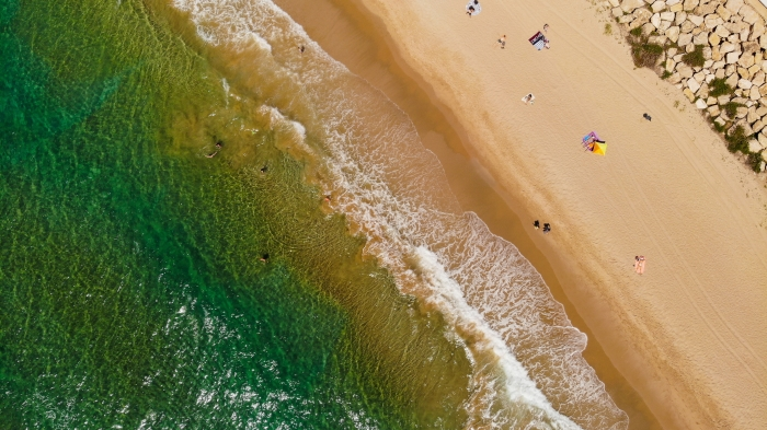 aerial view of a beach near Barcelona