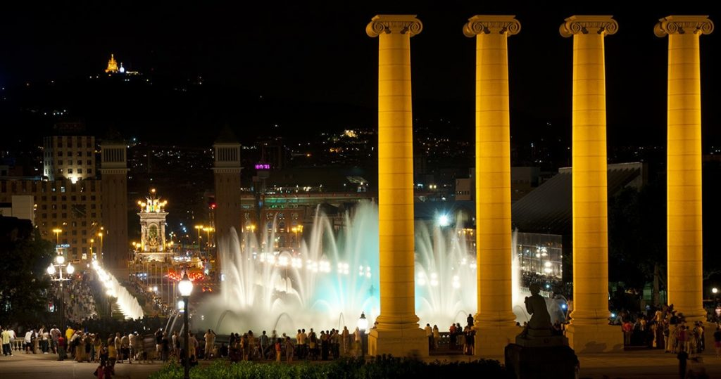 Barcelona's magic fountain show.