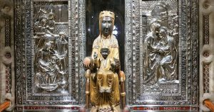 The famous Black Madonna, virgin Mary of Montserrat in Barcelona.