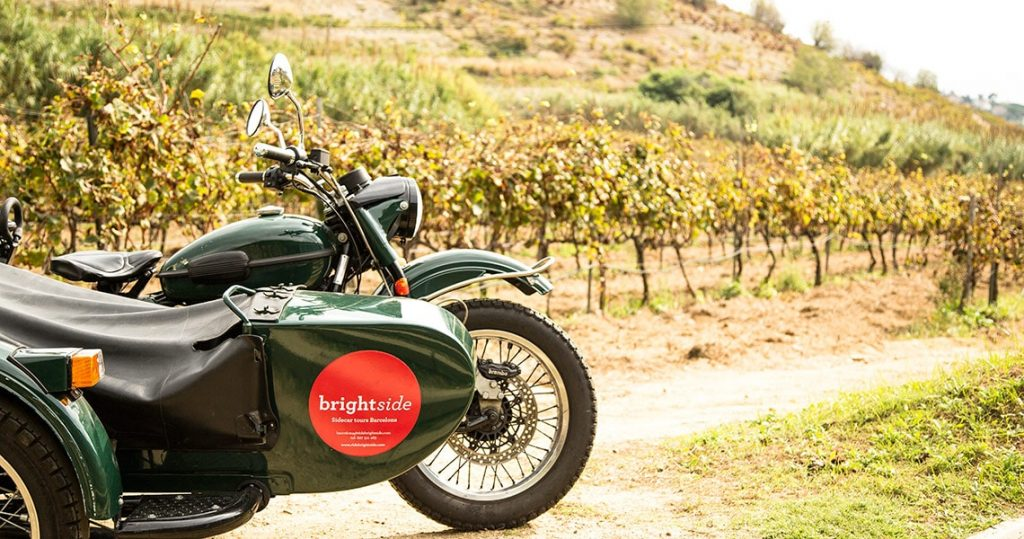 Sidecar tour to winery near Barcelona.