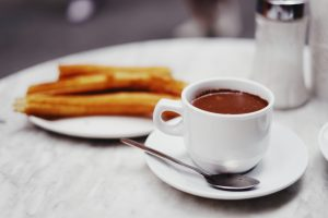 Churros with chocolat in Barcelona